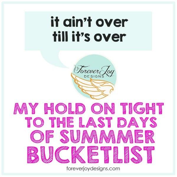 summer buckelist