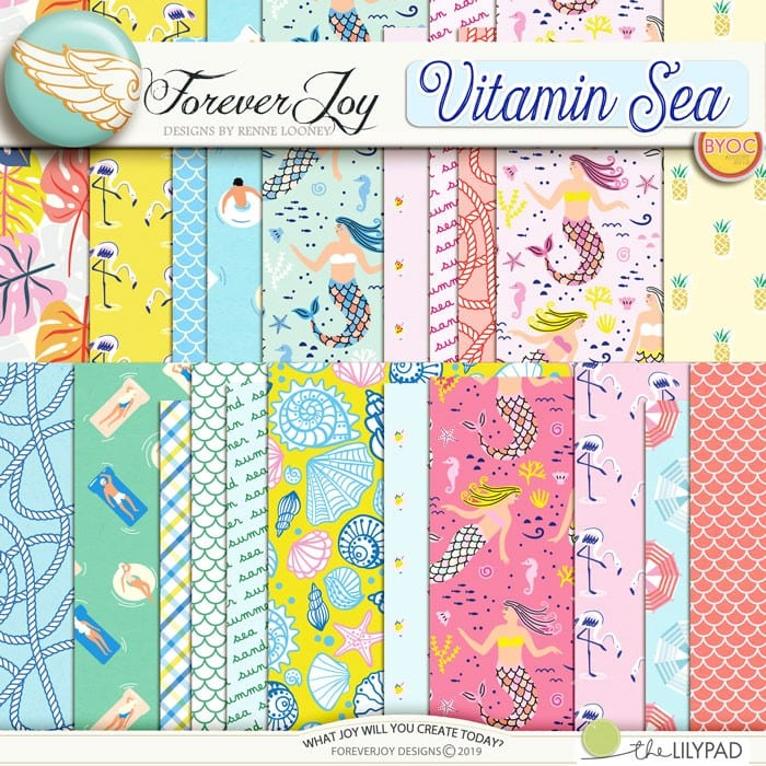 DIGITAL SCRAPBOOKING | FOREVERJOY DESIGNS | VITAMIN SEA